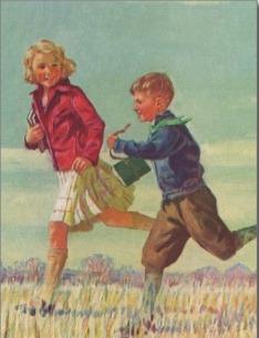 vintage_children_running_to_school_carrying_books_postcard-r93ff1fc9b37447f694fd597ffff6591c_vgbaq_8byvr_512