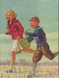 vintage_children_running_to_school_carrying_books_postcard-r93ff1fc9b37447f694fd597ffff6591c_vgbaq_8byvr_512